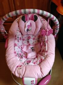 Minnie's mouse baby bouncer
