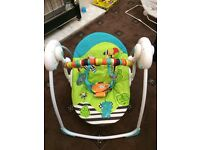 Automatic baby rocker, bouncer and door bouncer