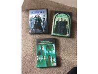 Matrix DVD Films 1, 2 & 3