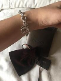 Gucci.Double G.chunky braclet.925 chain