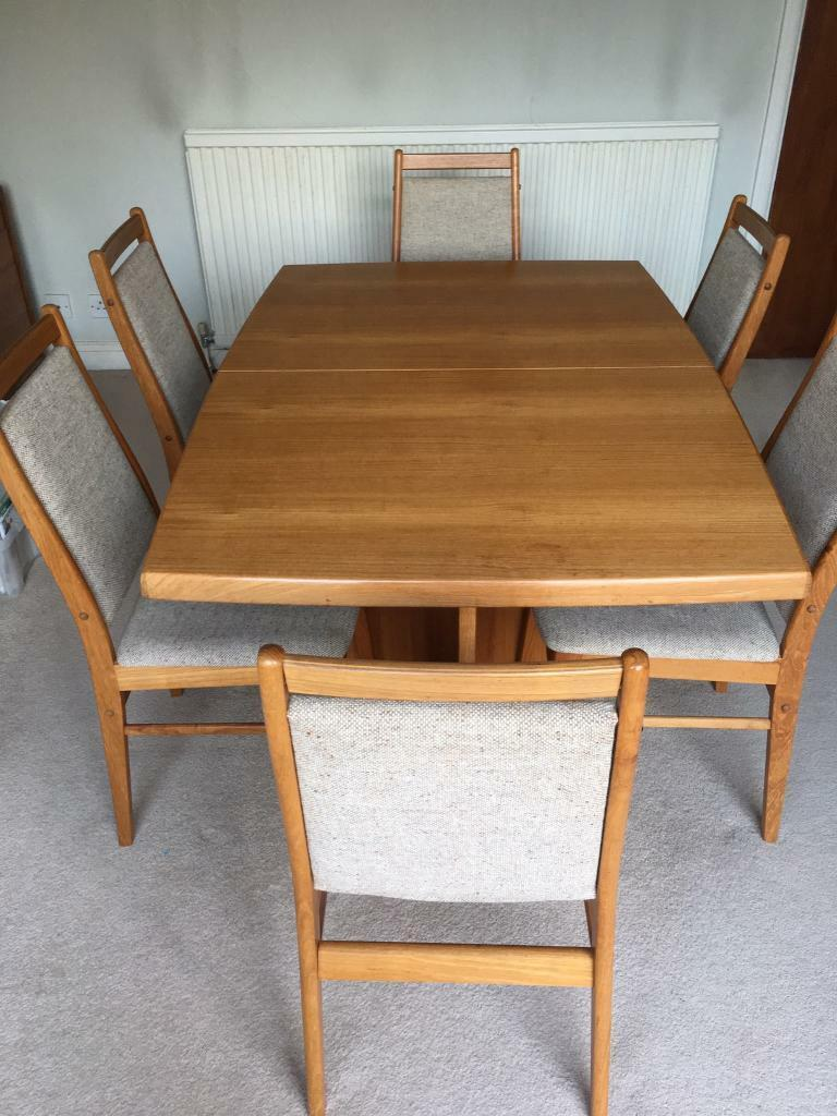 Teak Dining Table And Six Chairs In Chandlers Ford Hampshire
