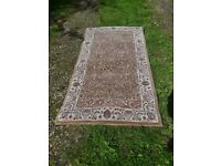 Persian style beige manmade rug