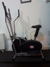 Elliptical Cross Trainer Exercise Bike Combo for sale (Hardly Used)