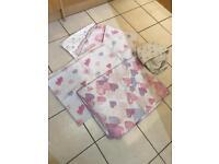 NEXT Pink and Purple Heart Single Duvet Sets