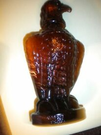A MOHAN MEAKIN GLASS EAGLE WHISKY DECANTER