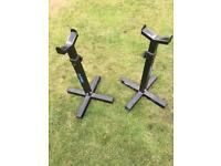 Barbell weights squat stands adjustable