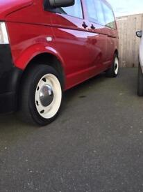 Vw transporter T5 banded steel wheels 17""