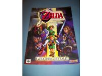 The Legend of Zelda: Ocarina of Time Official Strategy Guide Book - Brady 1998.