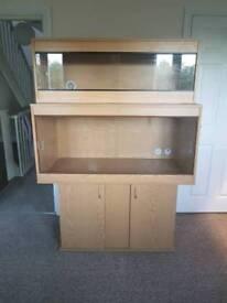4 foot vivariums and cabinet