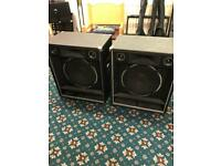 2 x 3way speakers - input not intact on either - selling for repair!