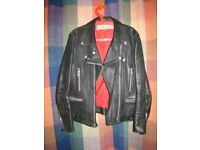 Leather Motorbike jacket: womens 44/XL in great condition
