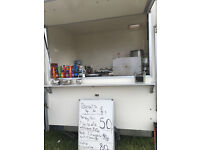 CATERING TRAILER BY BDS USED FOR SELLONG DONUTS DRINKS SOUP ECT CAN USE HOT FOOD REG SUNDAY SPOT