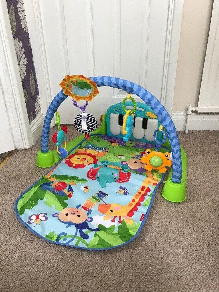 Baby kick and play musical mat