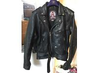Bike style Apache leather jacket