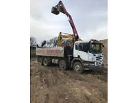 Scania grab tipper