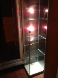 Glass cabinet with lights