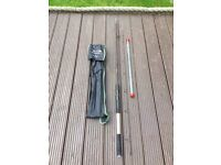 TF GEAR COMPACT 8ft FEEDER FISHING ROD / THREE TIPS / EXCELLENT CONDITION