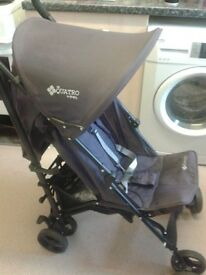Maroon stroller barely used