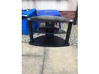 Free to collect BLACK GLASS TV STAND