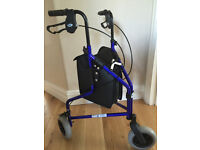 Days Medical 240L Lightweight Aluminium 3 Wheel Tri Walker Used only once.
