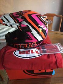 Crash Helmet BELL MX-9 .Scrub pink design. Brand new.