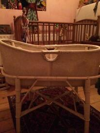 Vintage wicker Moses basket