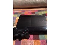 PS3 500gb with controller and games.