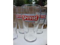 Spitfire Pint Glasses.Box of 12,Boxed and Unused.