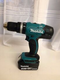 MAKITA cordless power drill/driver with battery, charger and carry case