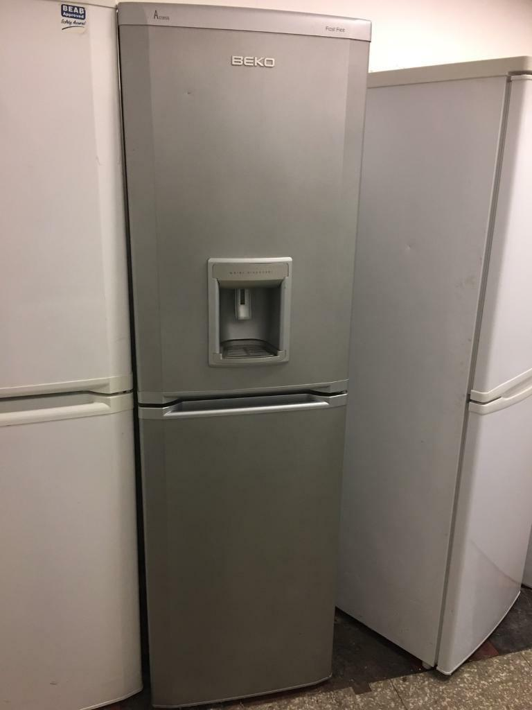 Beko Frost Free Fridge Freezer With Water Dispenser Silver