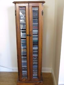 CD stand / rack in timber mahogany