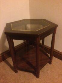 Mahogany framed side table