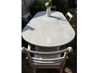 lovely table and chairs with extension