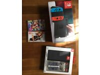 Nintendo Switch LIKE NEW plus 3 games and accessories