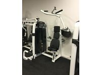 Technogym vertical traction lat machine