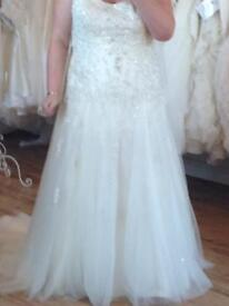 Plus Size Designer Wedding Dress - reduces for this weekend only***