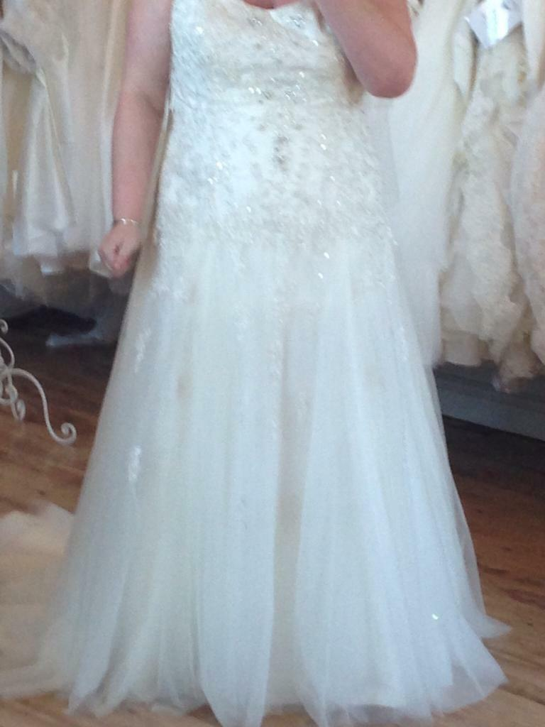 Plus Size Designer Wedding Dress - reduces for this weekend only ...