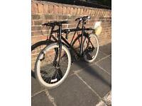 Aluminium frame hybrid bike