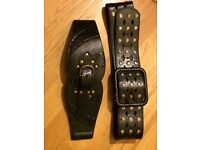 Pair of women's belt, black