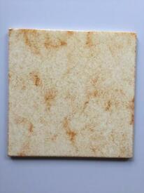 Beige ceramic tiles