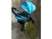 Icandy Peach Sweet pea stroller pram pushchair blue green NEW HANDLE