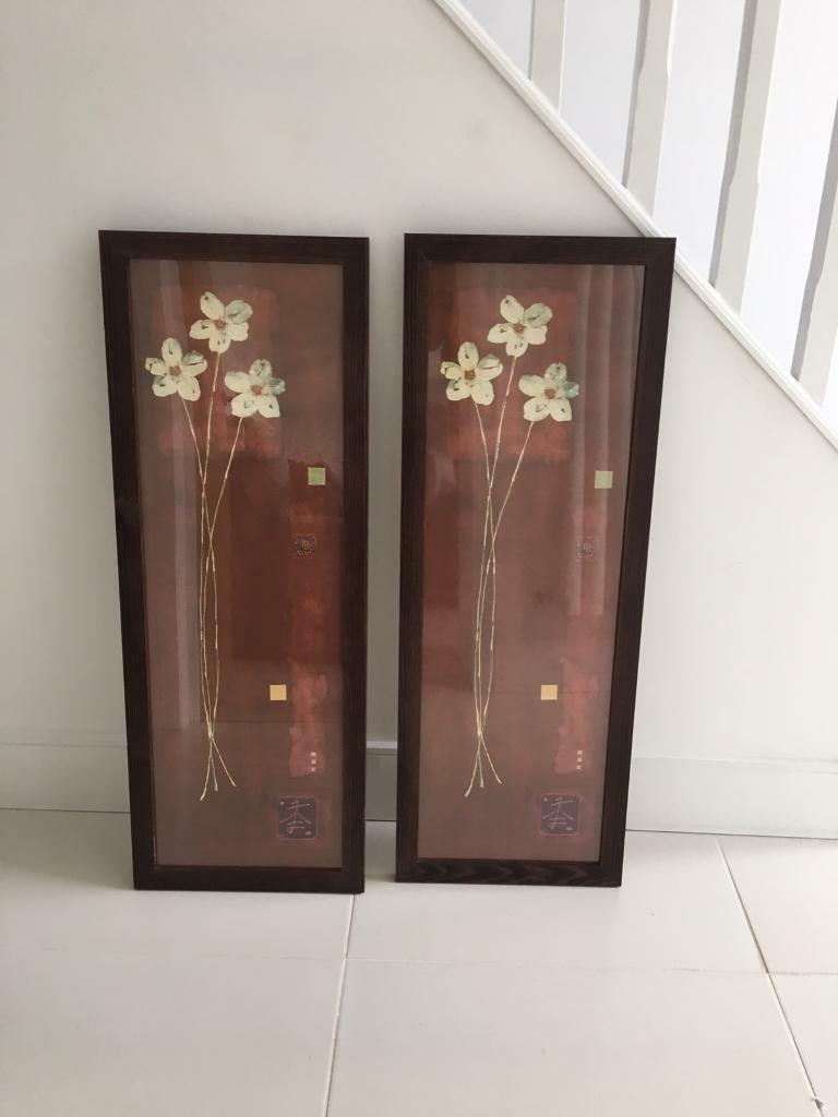 Flower Portrait: Wooden Frame With Glass