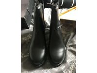 Brand new not been taken out box until now black boots with slight heel