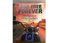 HARLEY DAVIDSON BOOK SET- RIDE FREE FOR EVER, THE LEGEND OF HARLEY DAVIDSON