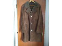 Vintage dark sheepskin mens coat - £75