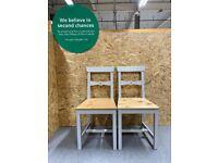 Pair of GAMLEBY Chair, light antique stain/grey IKEA Croydon #BargainCorner