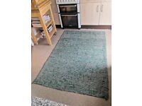 Large green colourful rug / carpet £15