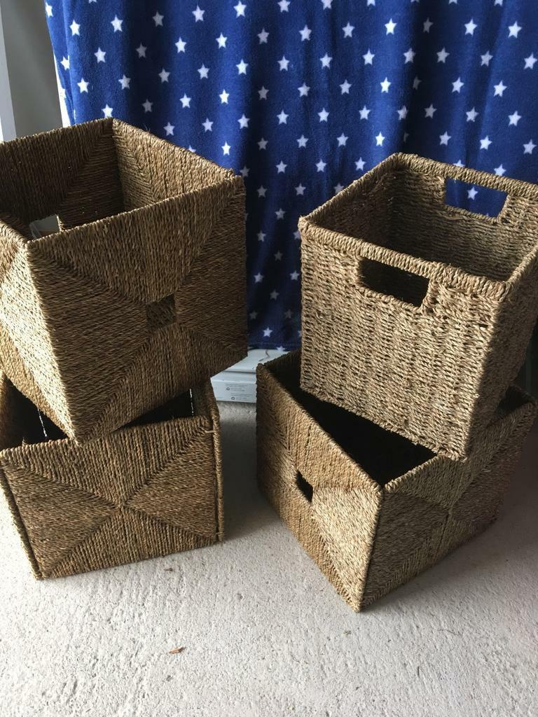 Ikea Kallax Expedit Wicker Storage Baskets Boxes In