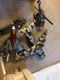 Army collection jet helicopter plane Amy figure
