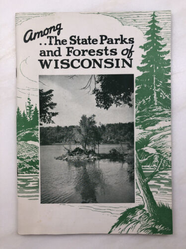 1950s WISCONSIN STATE PARKS & FORESTS Vintage Booklet PHOTOS